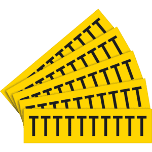 Selbstklebende buchstaben t schrifth he 25mm 5bogen ve for Selbstklebende folie schwarz