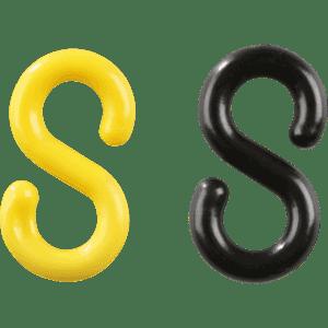 S Haken Gelb Schwarz Kunststoff ø 8mm 10ve Je Farbe 5 Stück