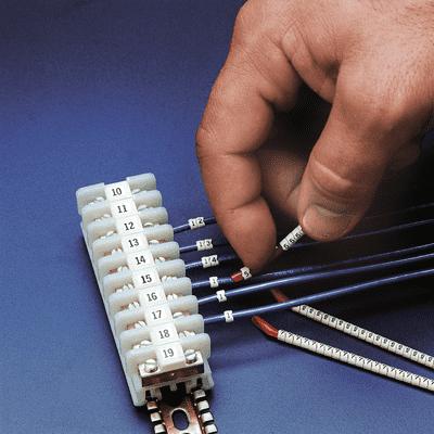 Kabelmarkierer Zahl: 0, weiß, Drahtdurchmesser 3,4-3,8mm, 300/VE ...