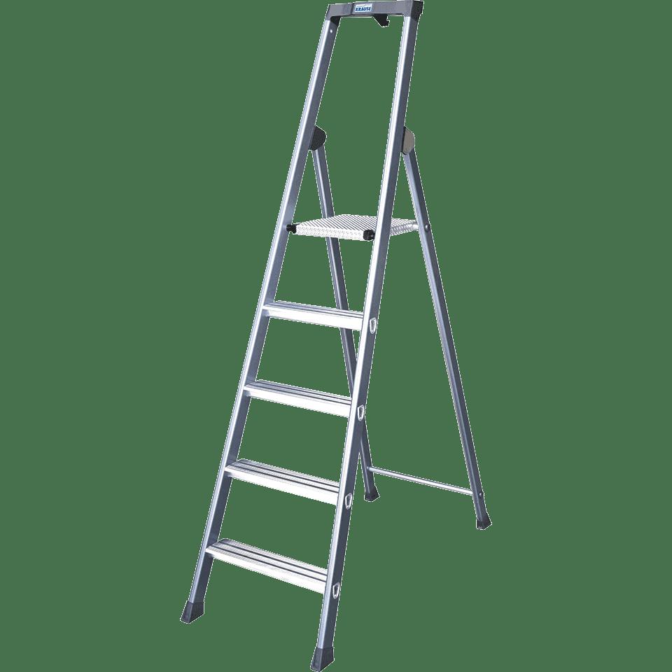 krause stufen- stehleiter, eloxiert, 8 stufen | kroschke
